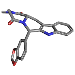 Cialis 5 mg 28 Tablet (Tadalafil) Kimyasal Yapısı (3 D)