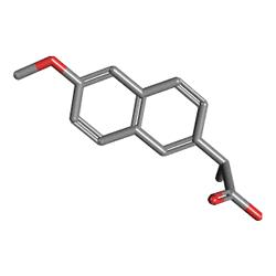 Apranax Fort 550 mg 20 Tablet (Naproksen) Kimyasal Yapısı (3 D)